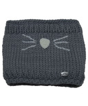 Calikids Iceland Acrylic Knit & Berber Neck Warmer Grey