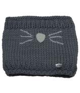 Calikids Iceland Acrylic Knit & Berber Neck Warmer Grey