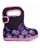 Bogs Baby Waterproof Boots Owls Purple Multi