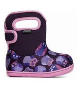 Bogs Baby Waterproof Boots Owls Purple Multi