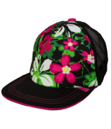 Calikids Trucker Hat Mesh Back Black Floral Combo