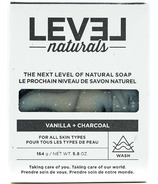 Level Naturals Soap Bar Vanilla + Activated Charcoal