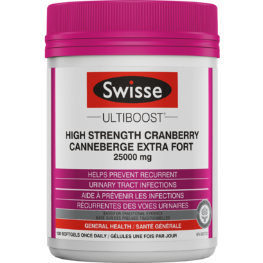 Swisse Ultiboost High Strength Cranberry Value Size