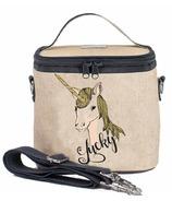 SoYoung Raw Linen Lucky Unicorn Small Cooler Bag