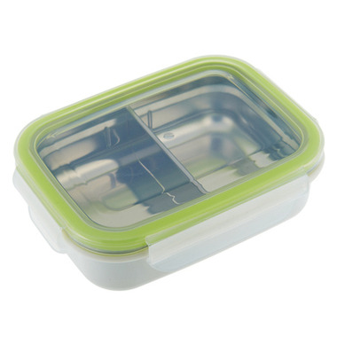 Innobaby Keepin\' Fresh Kids Stainless Divided Bento Green