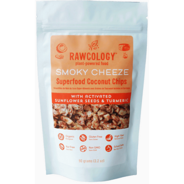 Rawcology Smoky Cheeze Superfood Coconut Chips