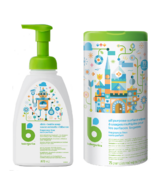 babyganics Fragrance Free All Purpose Surface Wipes + Dish Soap Bundle