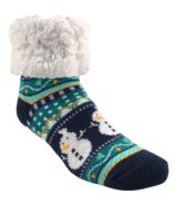 Pudus Classic Slipper Socks Harbor Snowman