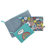 Yoobi Zip Pouch Doodles & Denim