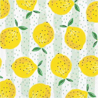 Elise Summer Fruit 3 Ply Luncheon Napkin Lemons