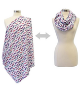 Itzy Ritzy Nursing Happens Infinity Breastfeeding Scarf Fresh Plume