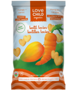Love Child Organics Lentil Lovies Mango + Carrot