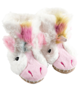 Hatley Little Blue House Kids Slippers Unicorn