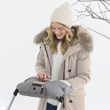 Skip Hop Stroll & Go On-Call Handmuff Heather Grey