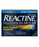 Reactine Extra Strength 3 Tablets
