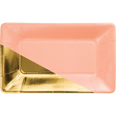 Elise Rectangular Appetizer Plate Coral