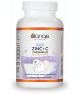 Orange Naturals Kids Zinc + C Chewables Délicieux Orange