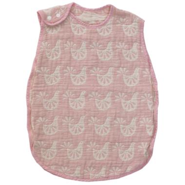 Living Textiles Muslin Reversible Sleeping Bag Pink Bird