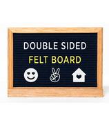 Amped & Co. Double Sided Felt Letter Board Black