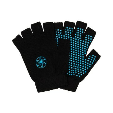 Gaiam Grippy Yoga Gloves Black & Blue