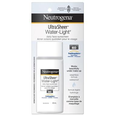 Neutrogena Ultra Sheer Water-Light Daily Facial Sunscreen SPF 60