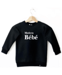 Today's Modern Bebe Child Crew Neck Sweater Modern Bebe Black