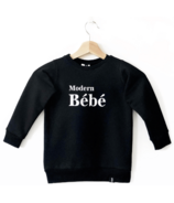 Today's Modern Bebe Child Crew Neck Sweater Modern Bebe Black