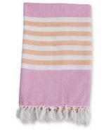 Lulujo Turkish Towel Classic Passion Pink & Apricot