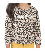 Brunette the Label Brunette Toddler Sweatshirt Crew Leopard Print