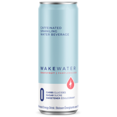 WakeWater Grapefruit Caffeinated Sparkling Water