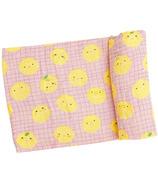 Angel Dear Lemons Swaddle Blanket Pink