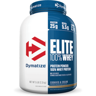 Dymatize Nutrition Elite Whey Protein Cookies & Cream 5 lbs