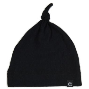 Vonbon Knotted Hat Black