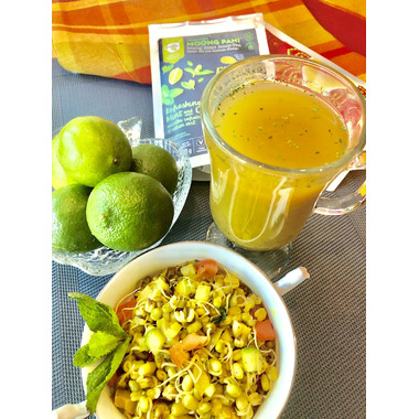 Moong Pani (Mung Bean) Soup-Tea Refreshing Mint And Lime With Turmeric