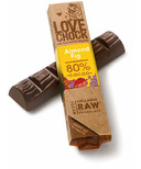 Lovechock Almond and Fig Raw Organic Chocolate Bar