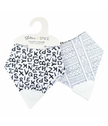 Glitter & Spice Double Side Organic Chew Bib A to Z and Mudcloth
