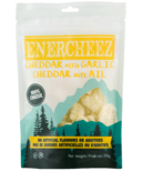 Enercheez Premium Artisan Crunchy Cheddar Cheese with Garlic