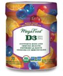 MegaFood Vitamin D3 Wellness 1000 IU Mixed Fruit Gummies