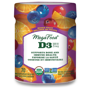 MegaFood Vitamin D3 Wellness 1000 IU Mixed Fruit Gummies