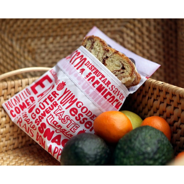 Lunchskins Red Words Sandwich Bags