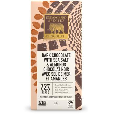 Endangered Species Dark Chocolate Bar with Sea Salt & Almonds