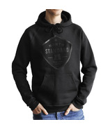 North Standard Trading Post Shield Pop Over Unisex Hoodie Black + Black