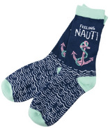 Hatley Little Blue House Feeling Nauti Women's Crew Socks