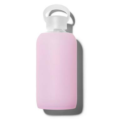 bkr Cupcake Glass Water Bottle Sheer Lilac Pink