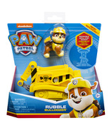 Paw Patrol Rubble's Bulldozer Vehicle with Collectible Figure for Kids