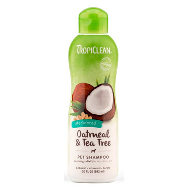 TropiClean Oatmeal & Tea Tree Shampoo For Dogs