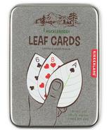 Kikkerland Huckleberry Leaf Playing Cards