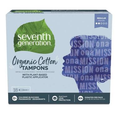 Seventh Generation Organic Cotton Tampons Regular