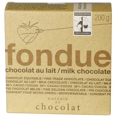 Galerie au Chocolat Milk Chocolate Fondue