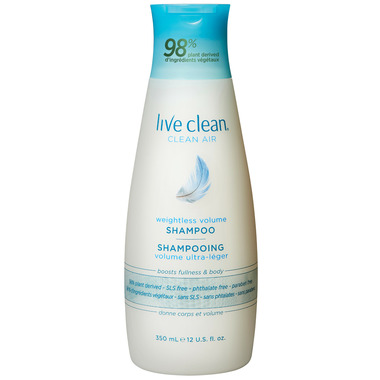 Live Clean Weightless Volume Shampoo Clean Air